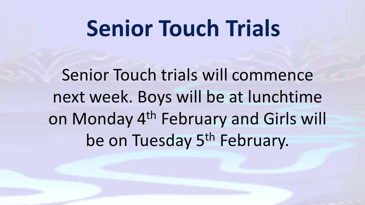 Touch Trials