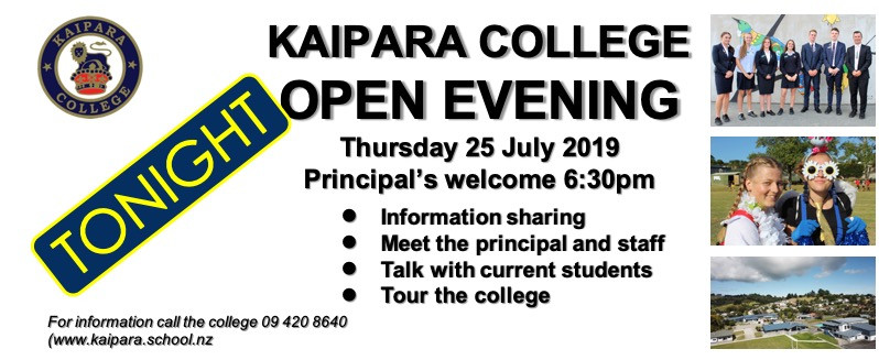 2019 Open Evening Postcard Tonight