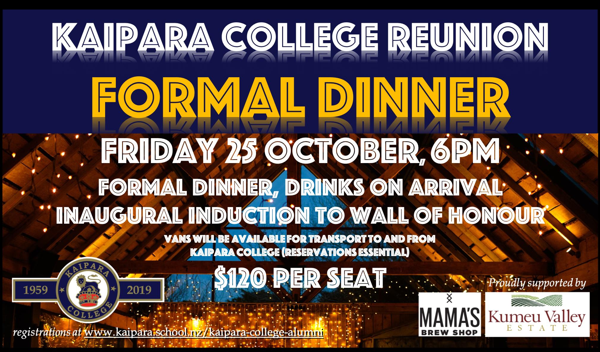 Reunion Formal Dinner