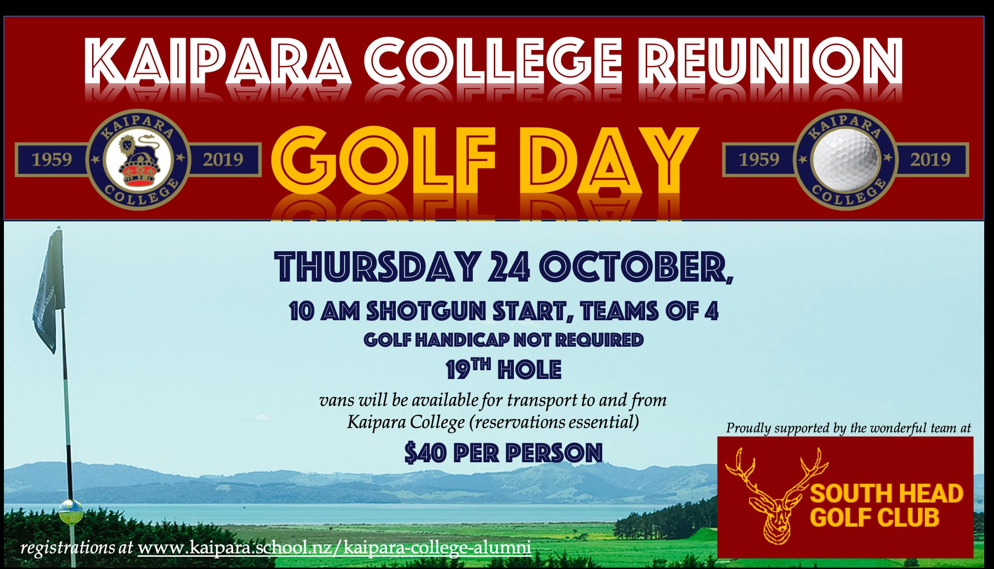 Reunion Golf Day