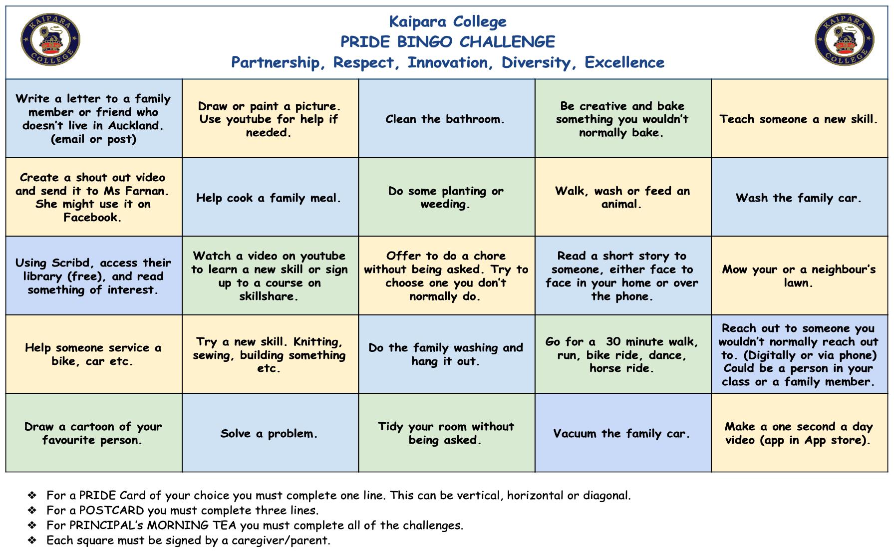Pride Bingo